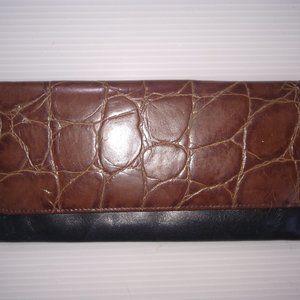 Vintage Croc Embossed  Leather Wallet